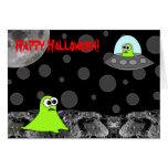 Fuera de esta tarjeta extranjera del feliz Hallowe