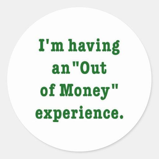 fuera de humor del dinero etiquetas