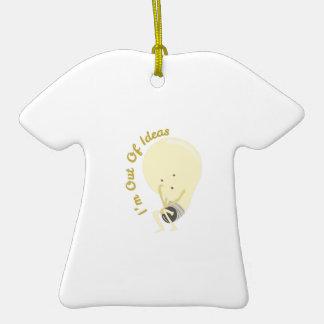 Fuera de ideas adorno de cerámica en forma de camiseta