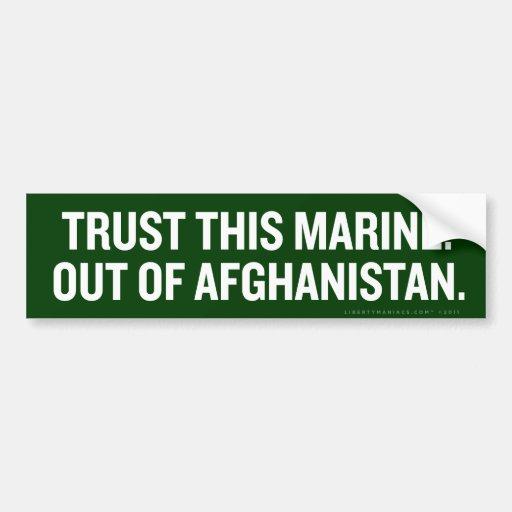 Fuera de la pegatina para el parachoques de Afgani Pegatina De Parachoque