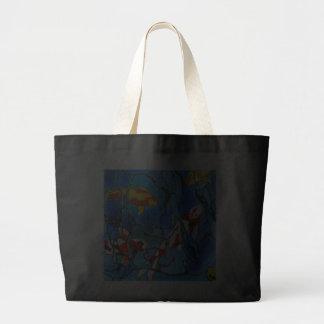 """¡""""Fuera"""" de la pintura azul del arte de los pescad Bolsas De Mano"""