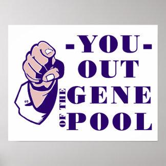 Fuera de la reserva genética impresiones