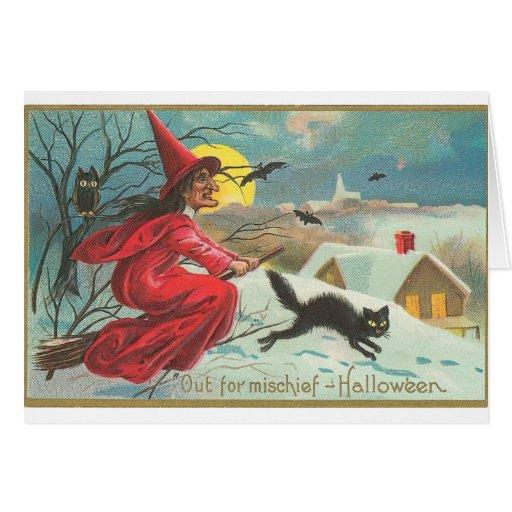 Fuera de la travesura - Halloween Tarjeta