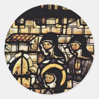 Fuera de las paredes de St. Clare de Assisi por Pegatina Redonda