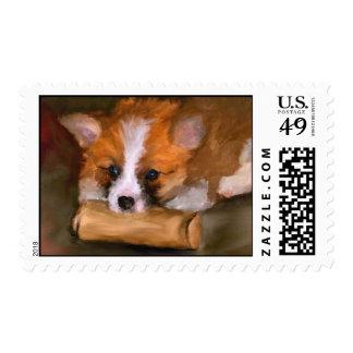 Fuera de los sellos de papel del arte del perro de