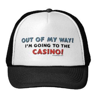 Fuera de mi casino de la manera gorros bordados