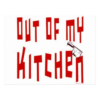 Fuera de mi decir de la cocina tarjetas postales