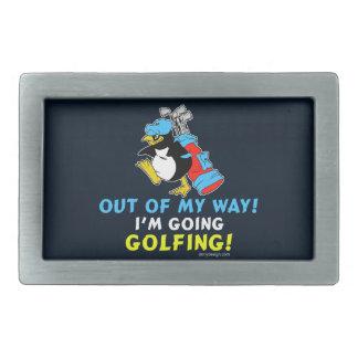 Fuera de mi manera, voy al Golfing Hebillas Cinturón Rectangulares