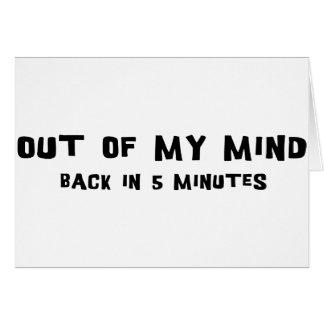Fuera de mi mente tarjetas
