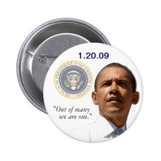 Fuera de muchos somos uno - presidente Obama Pin Redondo 5 Cm