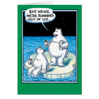 Fuera de tarjeta divertida del hielo
