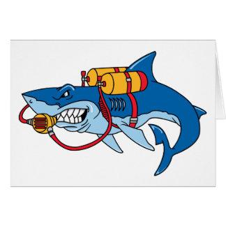 Fuera de tiburón del agua tarjeta de felicitación