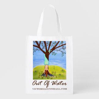 Fuera de valor promocional del arte de la sirena d bolsas para la compra