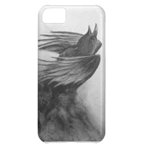 fuera del caso del iphone del cuervo de la niebla