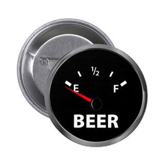 Fuera del indicador de la gasolina de la cerveza pins