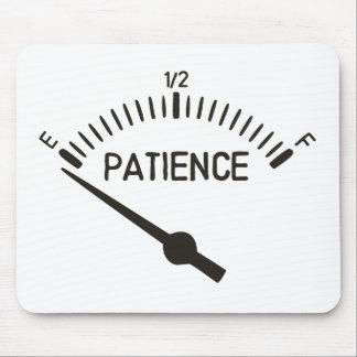 Fuera del indicador del gas de la paciencia alfombrilla de ratón