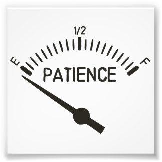 Fuera del indicador del gas de la paciencia cojinete