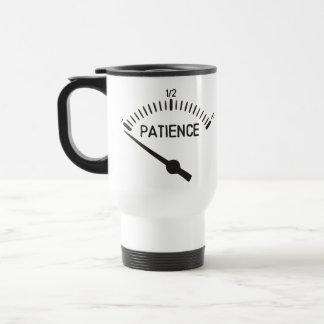 Fuera del indicador del gas de la paciencia taza de café