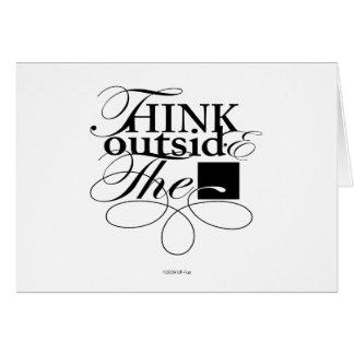 Fuera del logotipo del negro de la caja tarjeta de felicitación