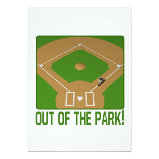 """Fuera del parque invitación 5"""" x 7"""""""