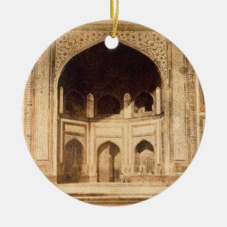Fuera del Taj Mahal ilustrado probablemente en el Adorno