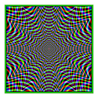 Fuera del Web del color del control Póster