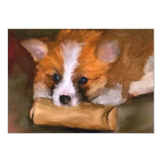 Fuera impresiones de papel del perro 5x7 del Corgi Invitación 12,7 X 17,8 Cm