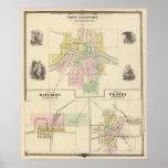 Fuerte Atkinson, Waterloo y Palmyra, Jefferson Co Impresiones