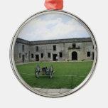 Fuerte Castillo de San Marcos II de St Augustine Adorno Redondo Plateado
