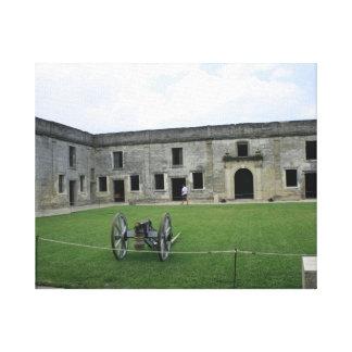 Fuerte Castillo de San Marcos II de St Augustine Lona Envuelta Para Galerías