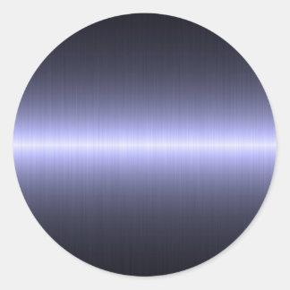 fuerte cepillada azul etiquetas redondas