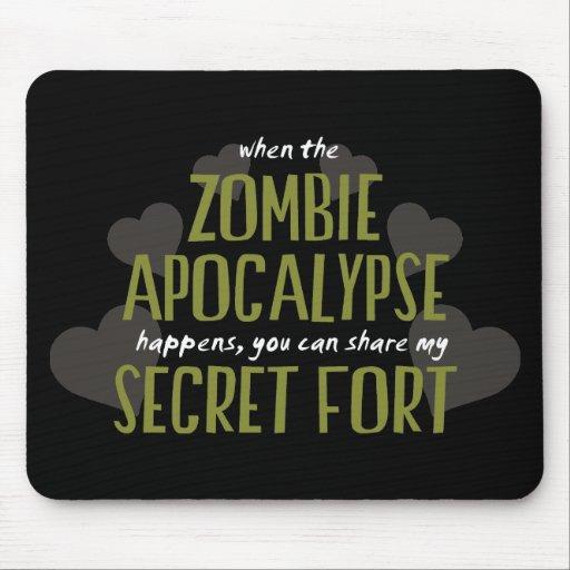 Fuerte de la apocalipsis del zombi alfombrilla de raton