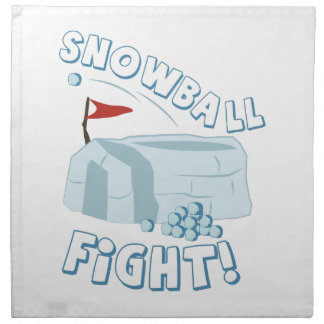 Fuerte de la lucha de la bola de nieve servilletas imprimidas