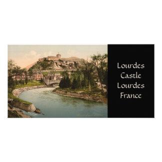 Fuerte de Lourdes, Lourdes, Francia de Château Tarjeta Fotográfica Personalizada