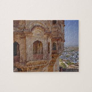 Fuerte de Mehrangarh que se eleva sobre Jodhpur, e Puzzle
