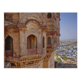 Fuerte de Mehrangarh que se eleva sobre Jodhpur, e Tarjeta Postal