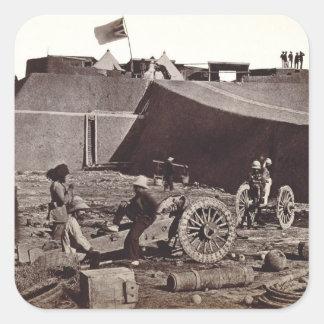 Fuerte de Pehlang, 1860 (impresión de la plata del Pegatina Cuadrada