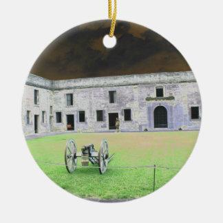 Fuerte de St Augustine que solarized Ornamento Para Reyes Magos
