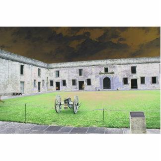 Fuerte de St Augustine que solarized Escultura Fotográfica