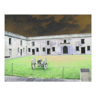 Fuerte de St Augustine que solarized Flyer Personalizado