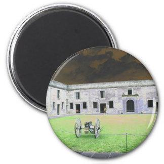 Fuerte de St Augustine que solarized Imanes De Nevera