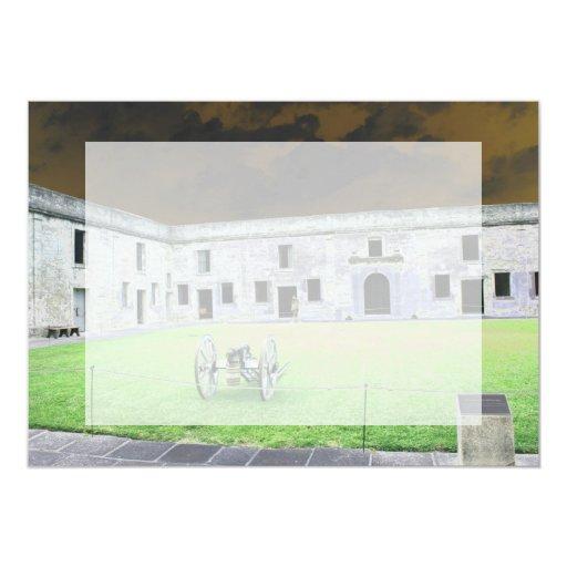 Fuerte de St Augustine que solarized Invitación 12,7 X 17,8 Cm