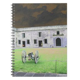 Fuerte de St Augustine que solarized Libros De Apuntes