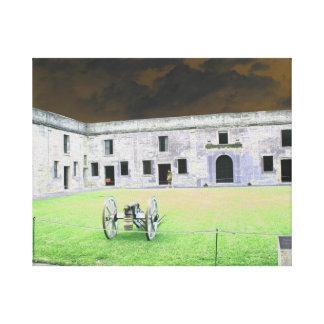 Fuerte de St Augustine que solarized Lienzo Envuelto Para Galerías