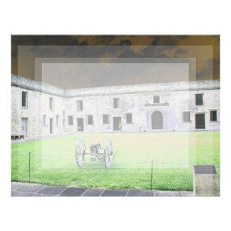 Fuerte de St Augustine que solarized Plantillas De Membrete
