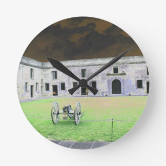 Fuerte de St Augustine que solarized Relojes
