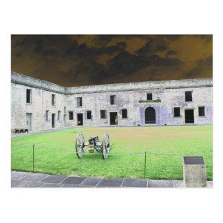 Fuerte de St Augustine que solarized Tarjeta Postal