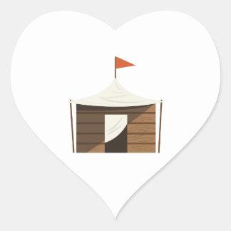Fuerte del juego pegatina en forma de corazón