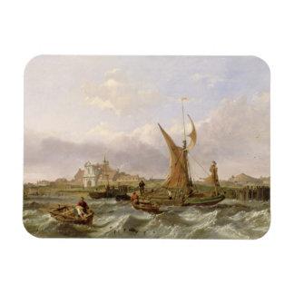 Fuerte del tilburí - viento contra la marea, 1853  iman flexible