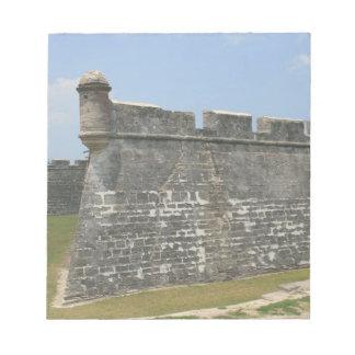 Fuerte en la opinión de la esquina de St Augustine Libretas Para Notas